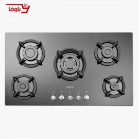 اجاق گاز صفحه ای | استیل البرز | مدل G5954 | شیشه  | 5 شعله | قطعات ایرانی