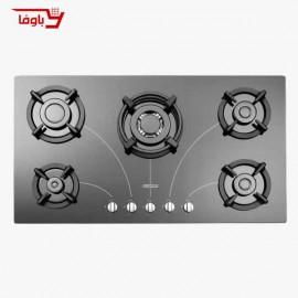 اجاق گاز صفحه ای | استیل البرز | مدل G5958 | شیشه | 5 شعله | قطعات ایرانی