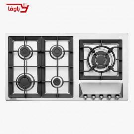 اجاق گاز صفحه ای | استیل البرز | مدل S5959 | استیل | 5 شعله | قطعات ایرانی
