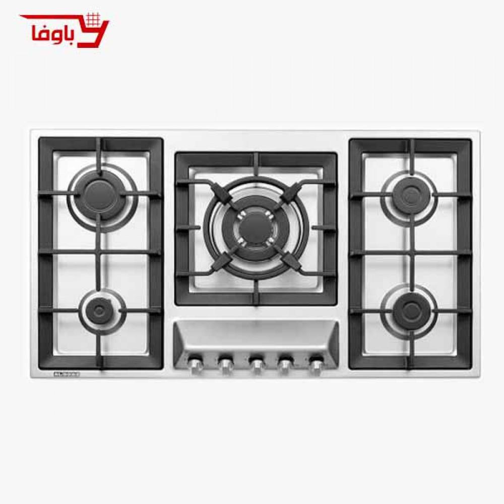 اجاق گاز صفحه ای | استیل البرز | مدل S5960 | استیل | 5 شعله | قطعات ایرانی