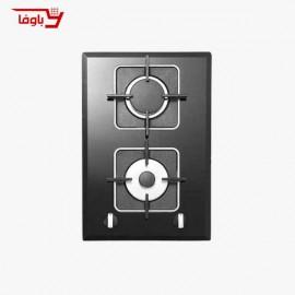 اجاق گاز صفحه ای | استیل البرز | مدل G2303 | شیشه | 2 شعله | قطعات ایتالیایی