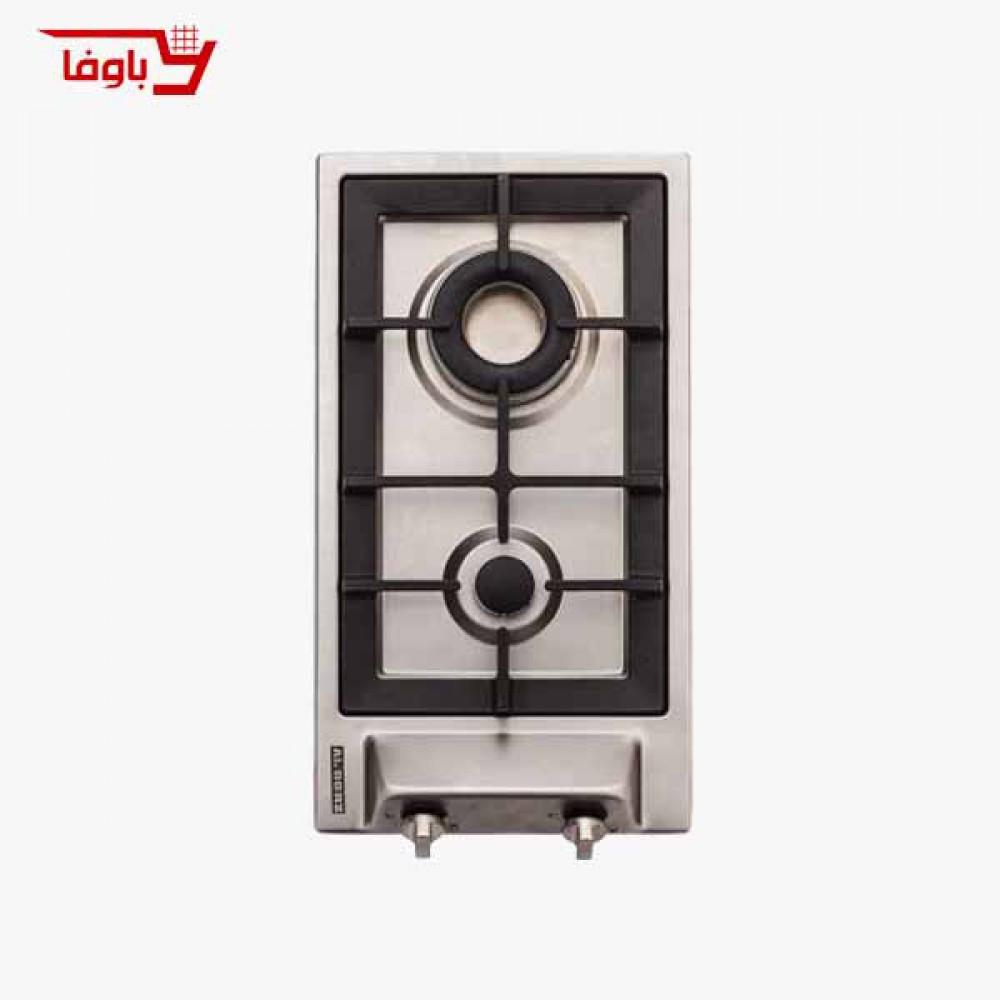 اجاق گاز صفحه ای | استیل البرز | مدل S2302 | استیل | دو شعله | قطعات ایتالیایی