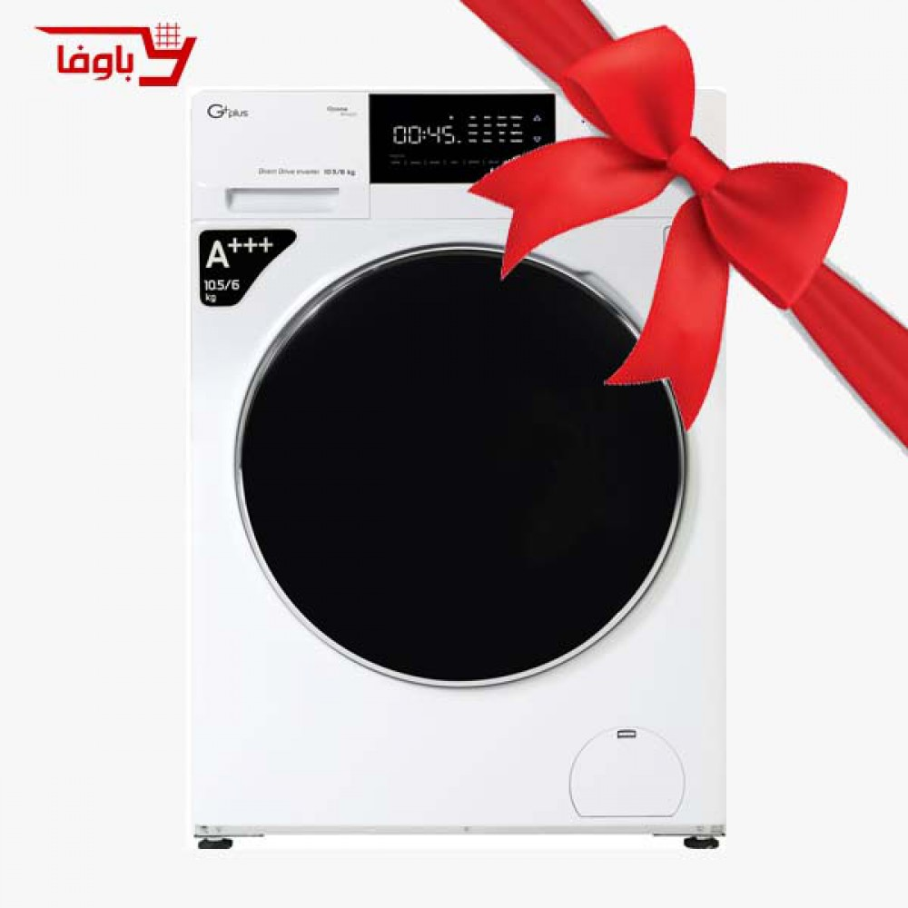 ماشین لباسشویی   جی پلاس   10.5 کیلویی   مدل GWM-KD1069W