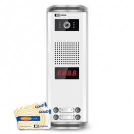 پنل آیفون تصویری تکنما | مدل K22-RFID | نامبرینگ | چهار واحدی